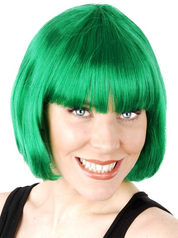 Bob Paige Wig with Fringe Green