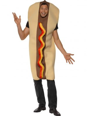 Hotdog Costume Adult Front View