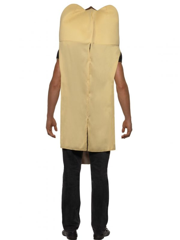 Hotdog Costume Adult Back View