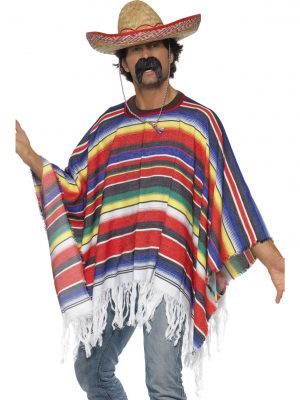 Men's Mexican Poncho Front view