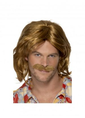70's Super Trouper Wig & Moustache