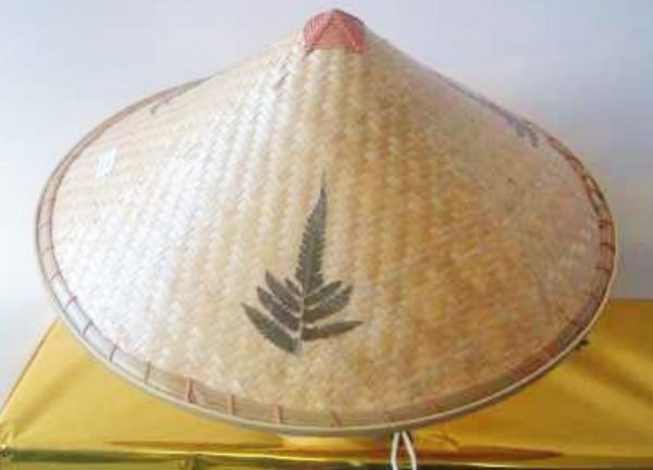 Asian Coolie Hat Bamboo