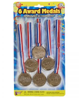 Award Gold Metal Set 6pk