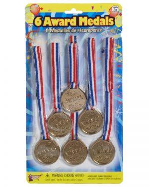 Award Gold Metal Set 6pk