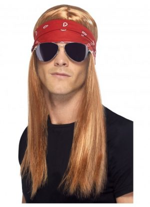 Axl Rose wig 90's Rocker kit