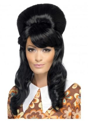 Black 60_s Brigitte Bouffant Wig