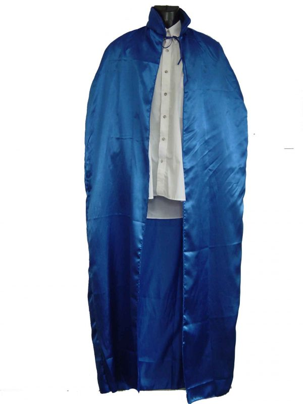 Blue Super Hero Cape Satin 1.50m