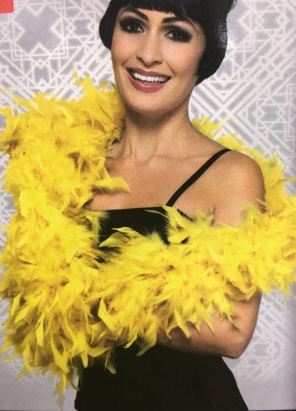 Deluxe Feather Boa, Yellow