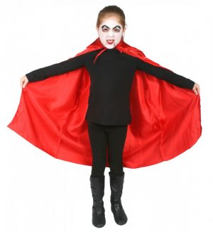 Cape Satin Red Child 75cm