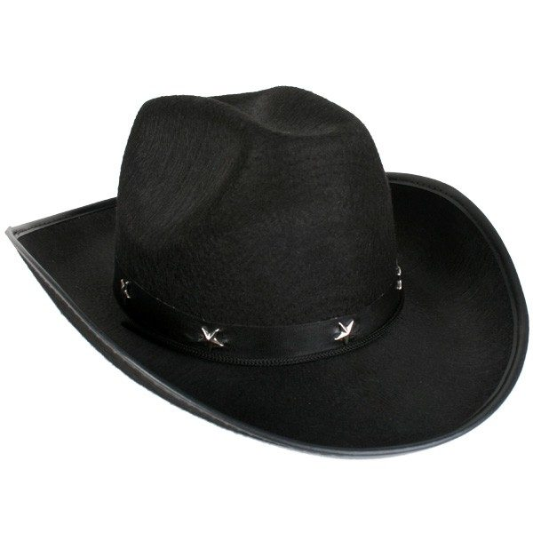 Cowboy Hat Black with Silver Star on Band