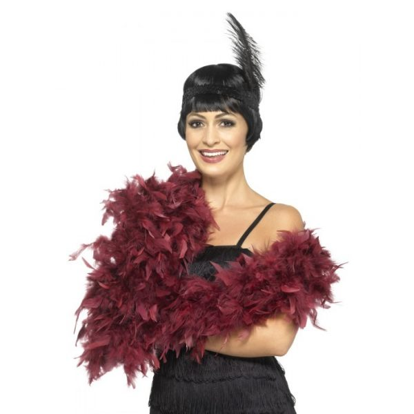 Deluxe Feather Boa, Burgundy