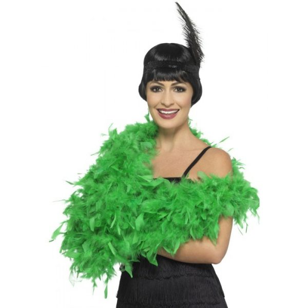 Deluxe Feather Boa, Emerald Green