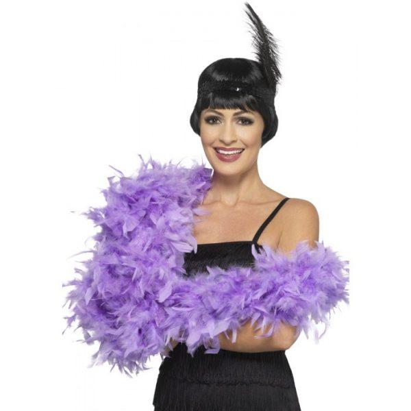Deluxe Feather Boa, Lilac Purple