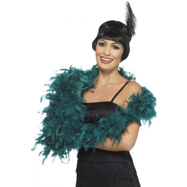 Deluxe Feather Boa, Teal