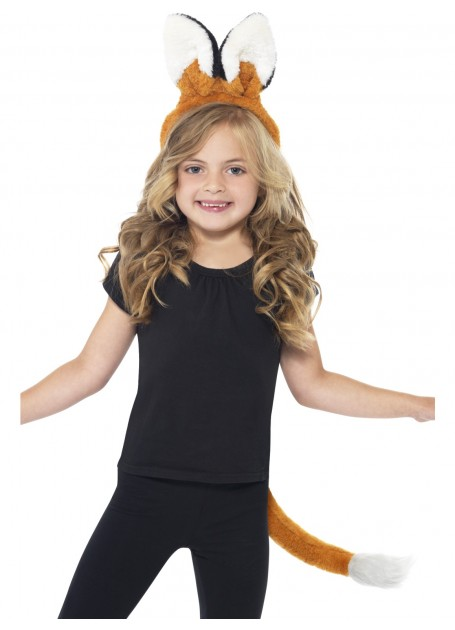 Fox Kit, with Ears Headband and Tail