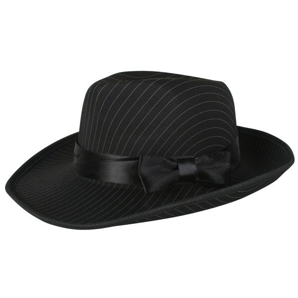 Gangster Deluxe Pinstripe Black