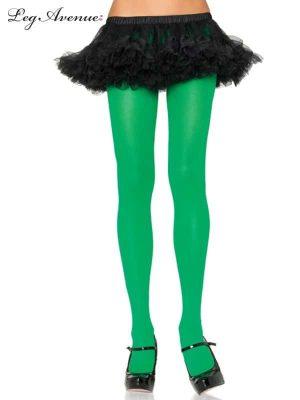 Green Nylon Tights
