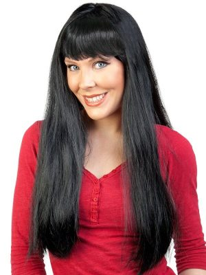 Jessica Long with Fringe Black Wig