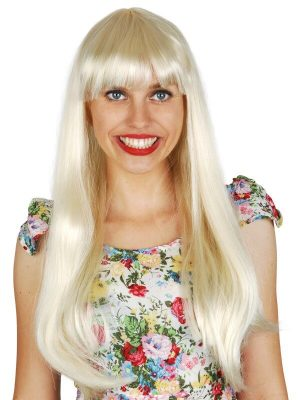 Jessica Long with Fringe Blonde Wig