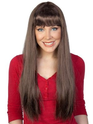 Jessica Long with Fringe Brown Wig