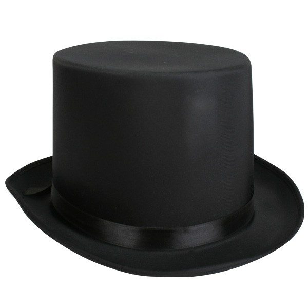Lincoln Top Hat Satin black
