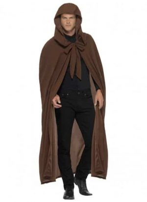Long Brown Gravekeeper Cloak