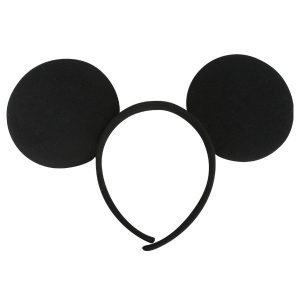 Mouse Ears Fabric Black Headband