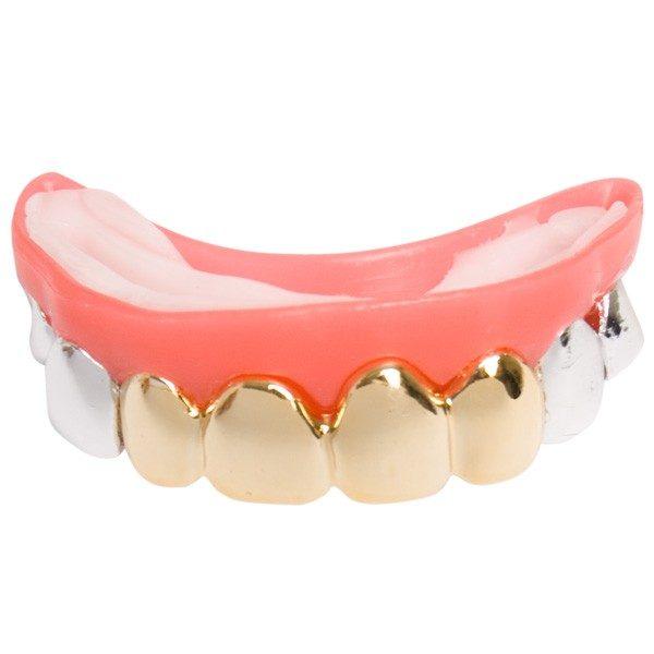 Multi Silver & Gold Look Teeth