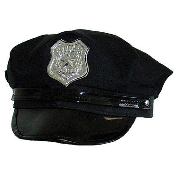 Police Cap USA Black