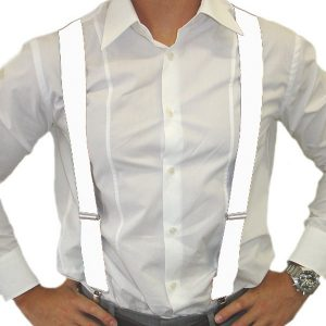 Suspenders white