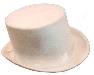 Top Hat Velvet White