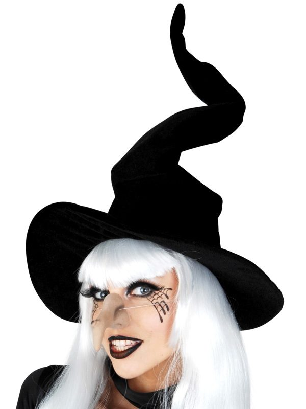 Witch Hat Wired Velvet Black