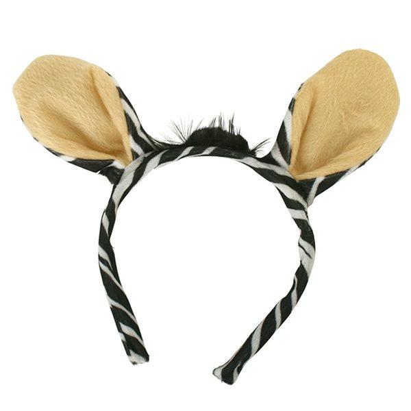 Zebra Ears on Headband