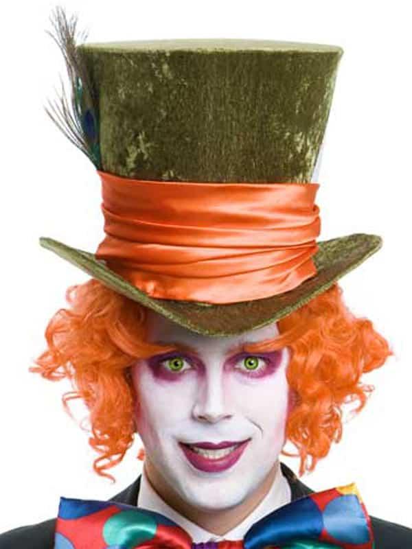 Mad Hatter Orange Wig And Eyebrows Abracadabra Fancy Dress