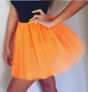 Tutu fluro orange