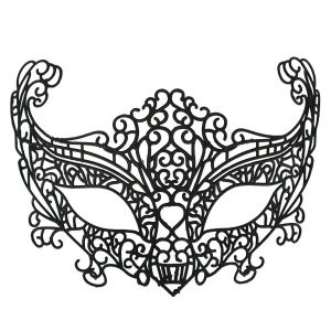 Ava Lace Black Eye Mask