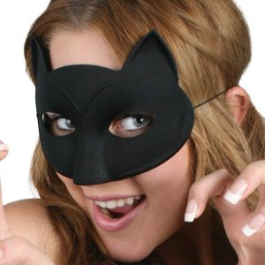 Black Cat No Whiskers Eye Mask