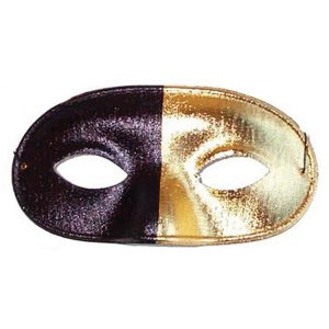 Bi Colour Eye Mask Black and Gold