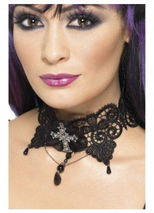 Black Gothic Lace Choker