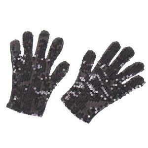 Black Sequin Glove