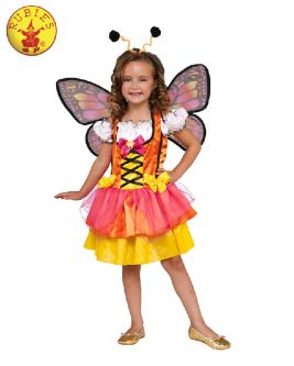 Butterfly Glittery Orange Child Costume