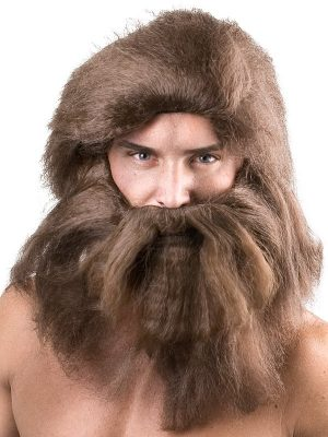 Beard and Moustache Grey - image Caveman-Beard-Wig-2-300x400 on https://www.abracadabrafancydress.com.au