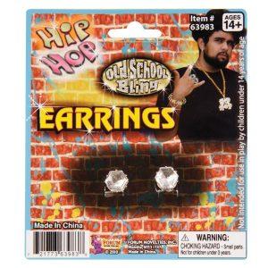 Earrings Big Diamond Stud Clip-On