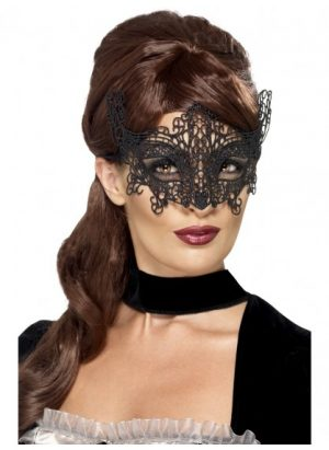 Embroidered Lace Filigree Swirl Eyemask