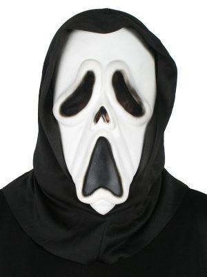Ghost PVC Face Mask with Hood