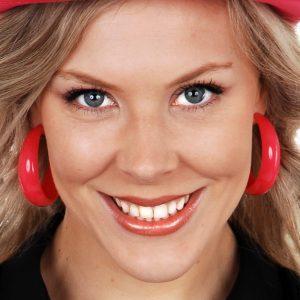 Hoop Pierced Hot Pink Earrings