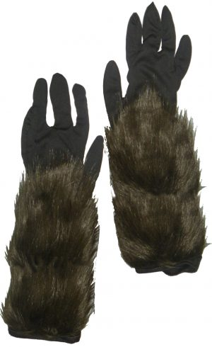 Long Hairy Werewolf Gloves