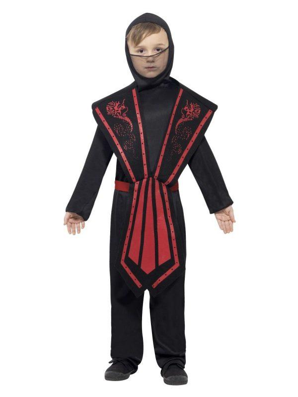 Ninja Costume Black and Red