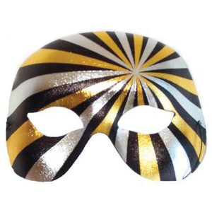 Psycho Gold and Silver Eye Mask