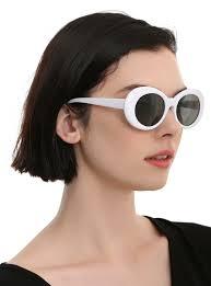 Retro White Glasses 2